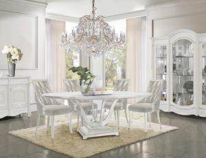Giulietta Art. 3623, Table à manger avec plateau rond