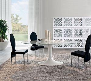 IMPERIAL, Table fixe, avec plateau en verre ou en céramique