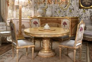 Lariana table ronde, Table de style ronde