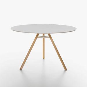 Mart mod. 9834-01 / 9835-01, Table avec plateau rond en HPL, disponible en différentes couleurs