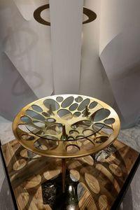 PEGASO Table, Table avec piètement en bois massif percé