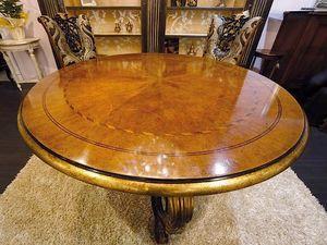Royal table, Table ronde pour salles à manger classiques