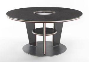 Table Trois rounds, Table ronde dans un style moderne, en stratifié