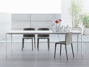 LIGHT, Table minimale, extensible, table de salon
