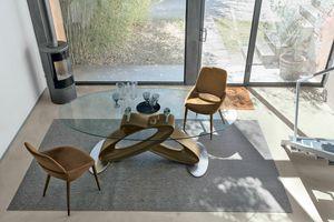 ECLIPSE TP400, Table avec plateau en verre trempé pour les salles à manger