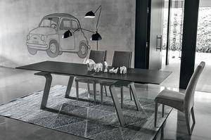 HERCULES TA125, Table rectangulaire extensible, style contemporain