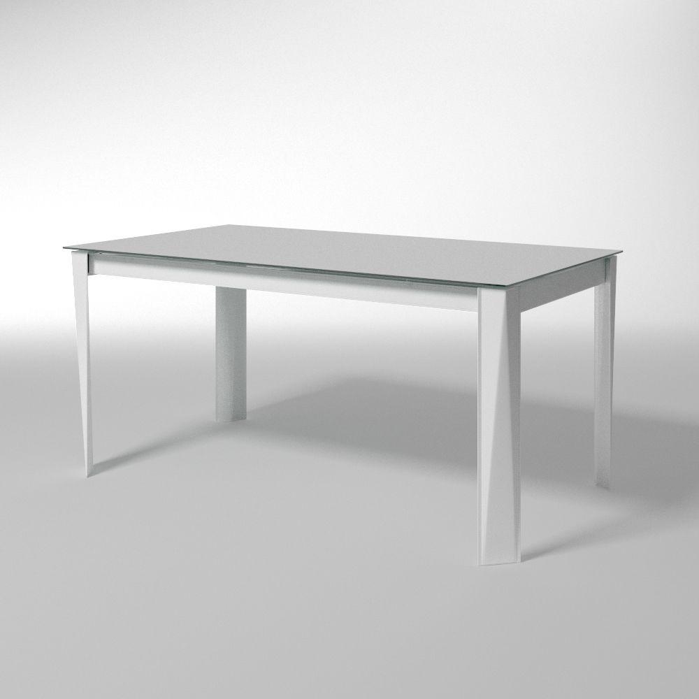 Romeo, Table extensible, plateau en verre, pour la salle à manger