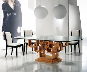 TA34K Glamour table, Table élégante avec plateau en verre