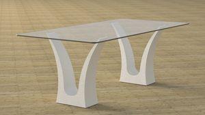Victory, Table à manger avec double base en pierre
