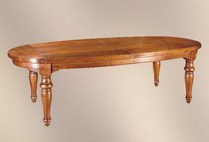 193, Table ovale à pieds tournés
