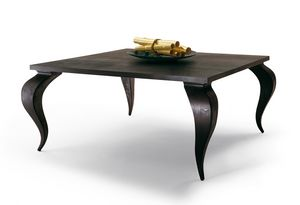 2120 Duong, Table en bois massif en acajou