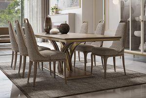 Alexander Art. A06, Table à manger rectangulaire luxueuse