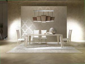 Dahlia 360T, Table en bois élégante