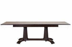 Heritage table, Table à manger extensible, faite en bois