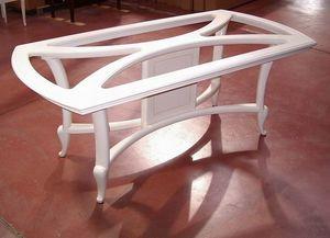 Hilton table, Table à manger laquée ivoire