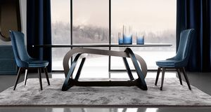 Loop Art. 302-RV1S, Table avec une base élégante