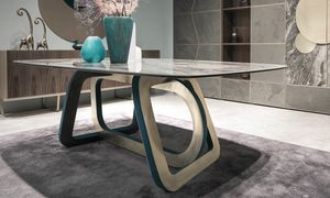 Loop Art. 302-RV2G, Table avec plateau en grès cérame