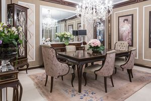 New York table, Table en bois pour salles à manger élégantes