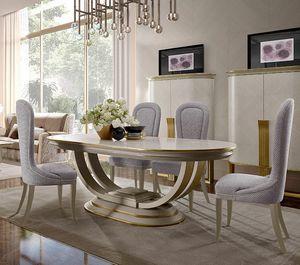 Oliver Art. OL06, Table à manger ovale