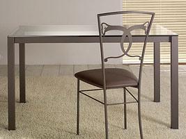 Orione Table, Table à manger avec plateau en verre