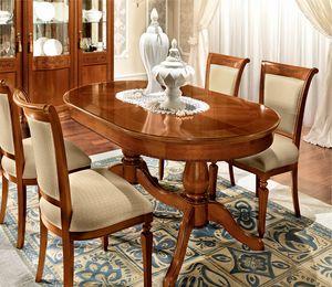 Torriani table ovale, Table classique, avec plateau ovale