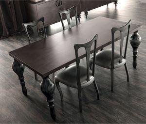 Zoe Art. 201-RR, Table à pieds tournés