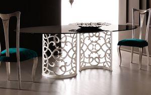 Flora Art. 223-RS1M, Table avec base en aluminium élégante
