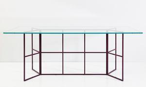 Frame, Table avec base en fer tubulaire