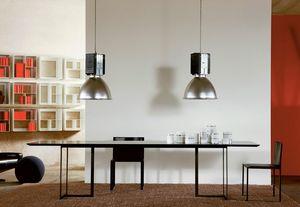 Leonardo, Tableau avec un design minimaliste, métal et verre, pour le salon
