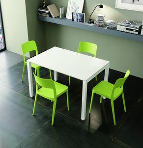s45 amedeo, Table à manger extensible avec structure en métal