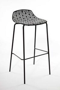 Alhambra Stool 67, Tabouret de bar en tube d'acier peint, si�ge polym�re