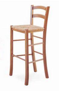 Paesana-A B, Tabouret rustique, avec siège en paille