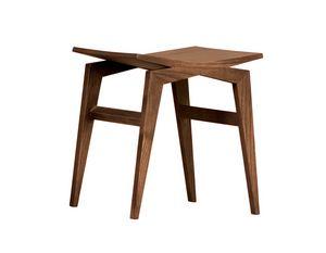 Icaro 5303/F, Tabouret bas en bois de frêne