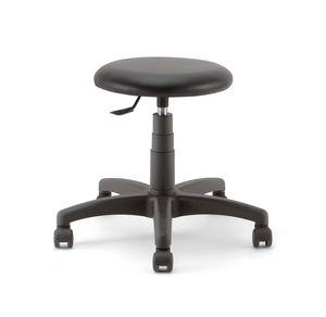 Mea Soft 01, Tabouret sur roulettes, avec assise rembourrée