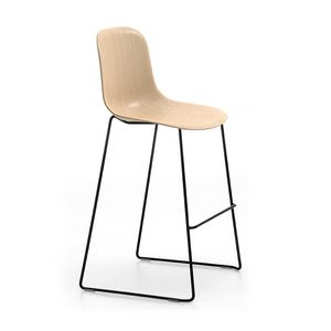 Máni Wood ST-SL, Tabouret empilable avec assise en bois