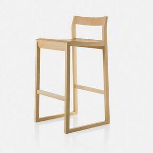 Sciza stool, Tabouret en bois au design raffiné
