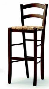 04 Brio/SG, Tabouret rustique, avec assise en paille