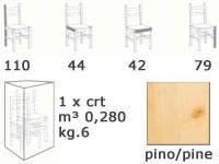 H/301 S, Barstool en bois massif, avec le dos, pour le vin pub