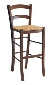 SG 119, Tabouret rustique en bois avec assise en paille, pour les bars
