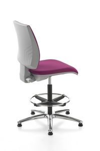 Kubix stool, Tabouret d'accueil, pivotant et réglable