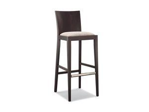 161 SG, Tabouret en bois, siège rembourré, pour bar moderne