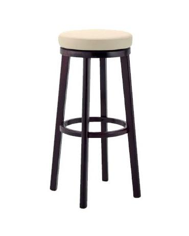 297, Tabouret en bois avec siège rembourré pour bars et pubs