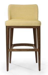 Katel stool A, Tabouret rembourré avec dossier bas