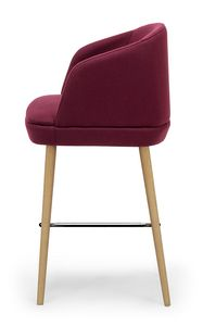 Noemi stool ARMS, Tabouret moderne avec coque d'emballage