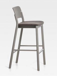 Pop, Tabouret moderne avec assise rembourrée