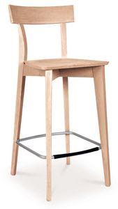 SG 646, Tabouret entièrement en bois, avec des repose-pieds en acier
