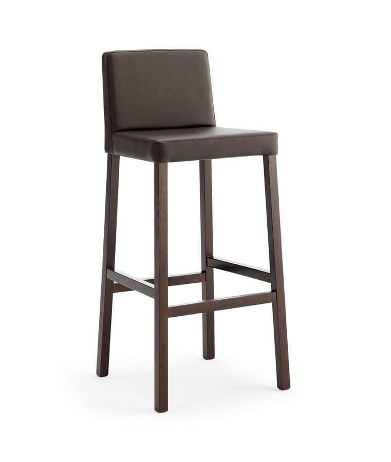 Relax SG, Tabouret en bois avec assise et dossier rembourrés