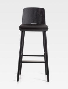 Tablet, Tabouret en bois, avec assise rembourrée