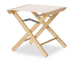 Tabouret P, Tabouret bas, en bois durable, polyvalent