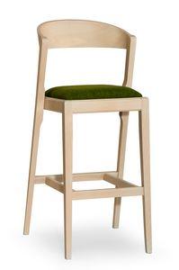 Zanna stool, Tabouret de bar moderne en bois